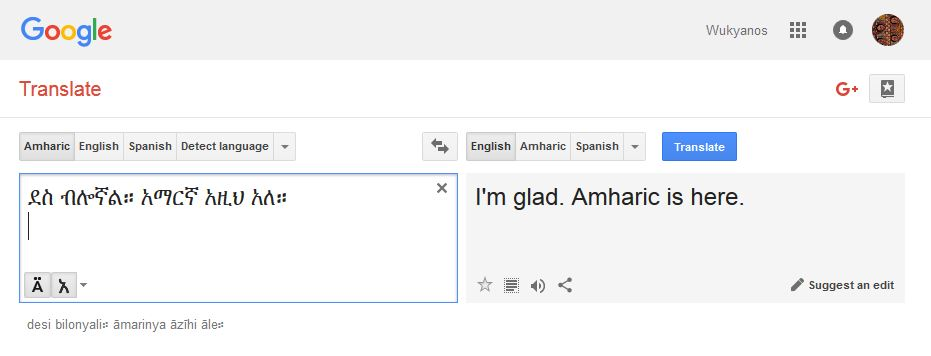 amharic google translate